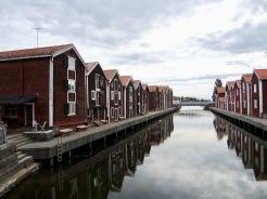 der ältere Hafen in Hudiksvall