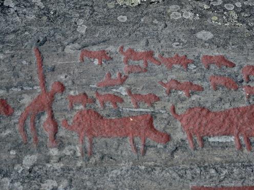 diese sind ca 3000 Jahre alt - Wildschweinjagd