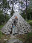 Holzkoten der Sami