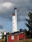 Leuchtturm auf der Insel, am nächsten Tag schüttet es ausKübeln
