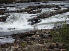 Wasserfall Trappestegforsen oder Treppenwasserfall